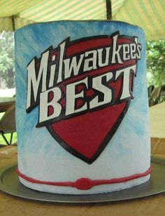 A grooms Milwaukee's Best beer can cake!