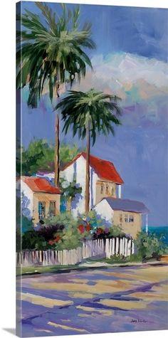 Key West Art Print by Jane Slivka Watercolor Landscape, Landscape Paintings, Landscapes, Wall Art Prints, Poster Prints, Caribbean Art, West Art, Tropical Art, Affordable Wall Art