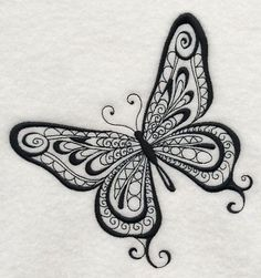 Inky Butterfly from Embroidery Library