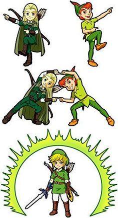Pull Parodie Link de Zelda, Peter Pan et Legolas du Seigneur des Anneaux – La naissance du Chevalier parfait… FUSION ! YAHAAAA ! – Pull Noir – Haute Qualité: Amazon.fr: Vêtements et accessoires