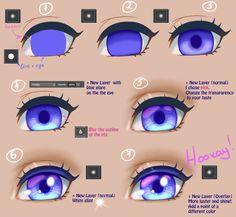 Semi Realistic Eyes Tutorial By Yokava How To Draw Pinterest