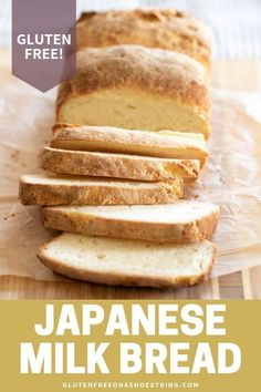 This is the softest gluten free bread I have ever made.tried and true! Plus I share my recipe video to help you bake this bread from scratch. Japanese Milk Bread can be used as sandwiches for lunch, Gluten Free Bread Maker, Bread Maker Recipes, Gluten Free Cooking, Wheat Free Bread Recipes, No Bread Diet, Best Keto Bread, Japanese Milk Bread, Pan Sin Gluten, Sandwiches For Lunch