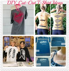 DIY Cut Up T-Shirt Ideas. A great way to spend a sunday
