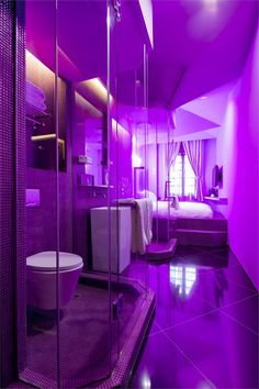 Wanderlust Hotel, Singapore . #archilovers #architecture #design #light #purple #colours