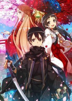 Asuna, Kirito, and Yui _Sword Art Online: