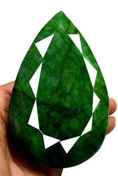 2725ct Big Huge Earthmined Natural Pear Rare Size Green Emerald Loose Gemstone