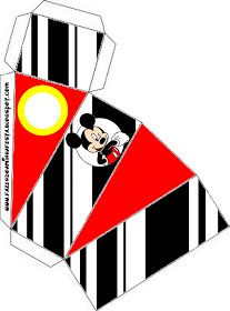 Mickey Mouse in Red, Yellow and Black: Free Printable Boxes. Mickey Mouse Classroom, Mickey Mouse Bday, Theme Mickey, Mickey Mouse Parties, Mickey Birthday, Cake Birthday, Mickey Craft, Mickey Mouse Crafts, Disney Cars