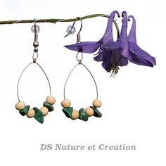 Malachite dangle earrings healing crystal by DSNatureetCreation www.etsy.com/listing/233249742/malachite-dangle-earrings-healing
