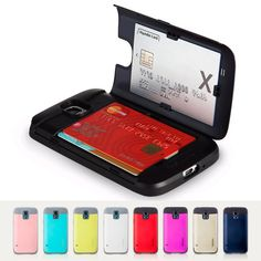 SAMSUNG GALAXY S5 COVERS - SKINU EUREKA BUMPER CASE -CARD STORAGE #SKINU -The SKINU Eureka Case features a back compartment that can hold up to three credit cards or IDs for convenient carrying by imonstore.com