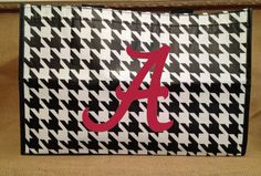 Houndstooth Tote Bag  Alabama Roll Tide by BeachyMommas on Etsy, $12.99