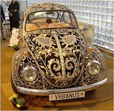 Intricately cut out volts wagon