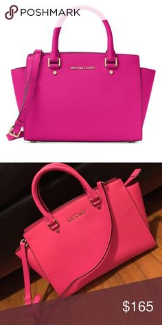 Michael by Michael Kors Handbag Selma Medium Saffiano Leather Satchel MICHAEL Michael Kors Bags