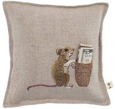 Coral and Tusk - mouse tooth fairy pillow. Maybe one w/ the tooth fairy appliqué! Hand Embroidery, Machine Embroidery, Coral And Tusk, Sewing Crafts, Sewing Projects, Tooth Fairy Pillow, Tooth Pillow, Pin Cushions, Needlepoint
