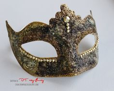 Handmade by Cudaczek: maska karnawałowa w stylu vintage