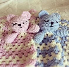 PDF PATTERN ONLY Cute Teddy Snuggle Crochet Comfort Blanket