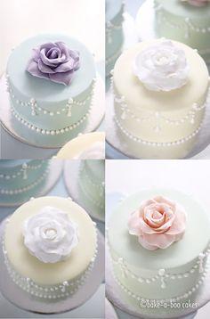 Ƹ̴Ӂ̴Ʒ Sweet Ƹ̴Ӂ̴Ʒ Little Cakes ~ Rose Mini Cakes