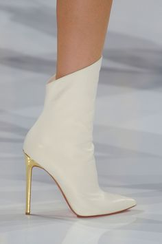white boots #fashion #heels #shoes For luxury custom made shoes visit www.just-ene.com