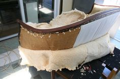 DIY Reupholstering, part 1: removing the old upholstery