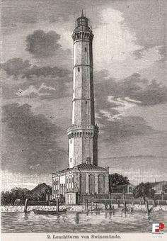 Latarnia morska Świnoujście, Świnoujście - 1880 rok, stare zdjęcia