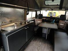 Defender 110 camper met hefdak belastingvrij 200 TDI - Land Rover Defender onderdelen, accessoires en camperinbouw