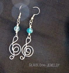 Treble Clef Wire Wrapped Earrings