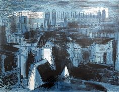 John Piper - King's College, Cambridge from...