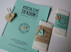 Kirchenheft FELINA mit Freudentränen - Wedding Ceremony Program FELINA with tears of joy tissues