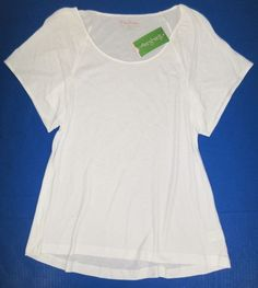 LILLY PULITZER Small OLIVIA Resort WHITE Cotton Modal Knit Top NWT Sm S #LillyPulitzer #KnitTop #Casual