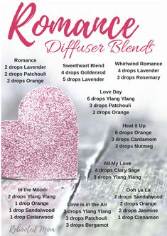 Valentine's Day is quickly approaching - and if you are looking to capture the mood with your loved one, try any of these Romance Diffuser Blends.