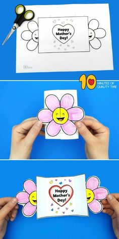 Happy Mothers Day Card Template Glückliche Mutter-Tageskarten-Schablone Simple and a laugh actions for youngsters (Visited 1 times, 1 visits today) Mothers Day Crafts For Kids, Diy Mothers Day Gifts, Mothers Day Quotes, Happy Mothers Day, Fathers Day, Child Quotes, Happy Teachers Day, Son Quotes, Mothers Day Presents