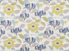 Lonicera Agapanthus   Folium   Prints, Cut Velvets and Weaves   VillaNova   Upholstery Fabrics, Prints, Drapes & Wallcoverings