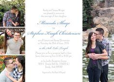 Miranda and Stephen Front Simple Wedding Invitations, Wedding Invitation Design, Wedding Announcements, Beautiful Smile, Future Husband, Utah, Wedding Stuff, Wedding Planning, Reception