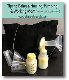 Tips & Tricks on Nursing, Pumping & Working without pulling your hair out. #pumpingtips #workingmom #breastpump