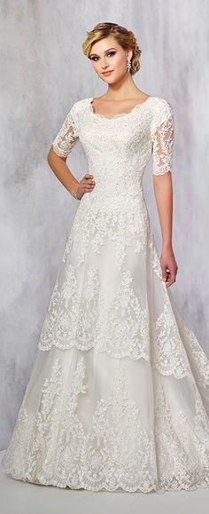 154 best Modest Wedding Dresses images on Pinterest | Bridal gowns ...