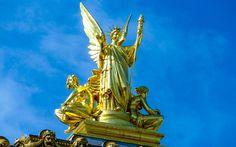 Goldene #Figur auf der #Pariser #Oper © Gudrun Krinzinger