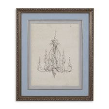 Classical Chandelier IV Framed Painting Print