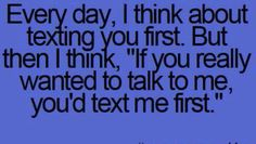 Texting first