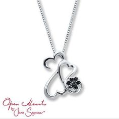 This Open Hearts Family necklace features a paw print – perfect for the proud pet parent.