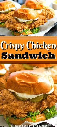 Crispy Chicken Burgers, Roast Beef Sandwich, Chicken Sandwich Recipes, Fried Chicken Sandwich, Crispy Chicken Wraps, Chicken Subs, Cubano Sandwich, Best Sandwich Recipes, Crispy Chicken Recipes