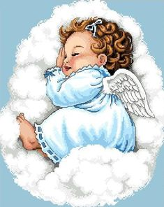 Items similar to Cherub -Sleeping Peacefully -Cross Stitch PDF Pattern on Etsy Angel Images, Angel Pictures, Cute Pictures, Cross Stitch Charts, Cross Stitch Designs, Cross Stitch Patterns, Cross Stitches, Baby Art, Angel Art