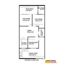 50 gaj area house layout plan plan 1 for 35x60 house plans