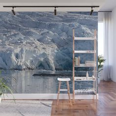 Ice art by nature on glacier and in ocean Wall Mural by perttikangasniemi Cool Wall Decor, Ice Art, Home Decor Sets, Empty Wall, Wall Murals, Nature Photography, Ocean, In This Moment, Bavaria