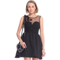 Embroidered Black Sleeveless Dress  #pariscoming your personal style online store. #outfit #stylist #Styling #streetstyle #fashionblog #fashiondiaries #fashiondiary #WearIt #WhatYouWear ✿ ❀ like it? buy now ❀ ✿