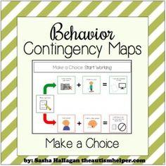 Explain the Intervention {Behavior Contingency Maps} - The Autism Helper Classroom Behavior Management, Behavior Plans, Behaviour Management, Behavior Charts, Kindergarten Behavior, Class Management, Positive Behavior Support, Social Skills, Special Education