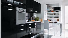 Modern Black kitchen designs – ceramic – granite