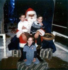 Remember that time Santa fell asleep with us? Lol @mrdrewscott @mrjdscott