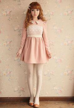 Mango Doll - Lace Wool Dress , $77.00 (http://www.mangodoll.com/all-items/lace-wool-dress/)