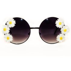 Daisy Sunglasses ($46) ❤ liked on Polyvore featuring accessories, eyewear, sunglasses, glasses, rock glasses and daisy sunglasses