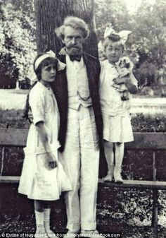 W.A. Clark with daughters Andree, left, and Huguette, with one of her dolls....
