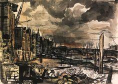 "John Minton's ""The Thames at Cannon Street"""